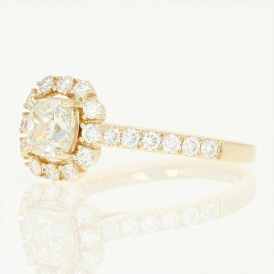 Other NEW Diamond Halo Engagement Ring - 14k Yellow Gold GIA Cushion U9014 Image 1