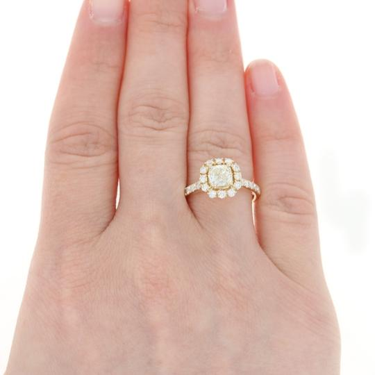 Other NEW Diamond Halo Engagement Ring - 14k Yellow Gold GIA Cushion U9014 Image 4