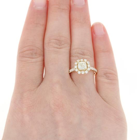 Other NEW Diamond Halo Engagement Ring - 14k Yellow Gold GIA Cushion U9014 Image 5