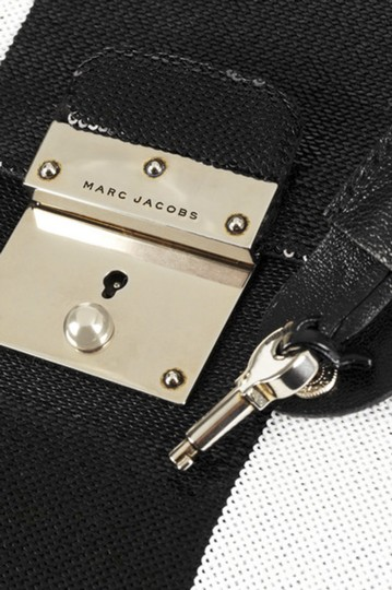 Marc Jacobs Italy Sequin BLACK & WHITE Clutch Image 6