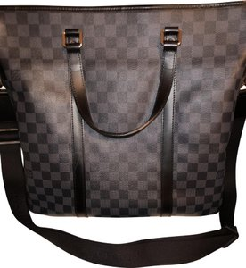 Louis Vuitton Satchel in Grey & Black