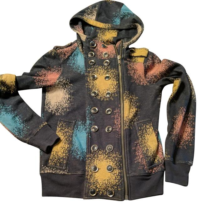 Item - Denim with Multiple Colored Burst Starburst Military Activewear Outerwear Size 2 (XS)