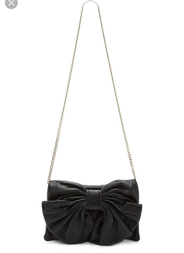 7454b0d5f132 RED Valentino Small Black Calfskin Leather Cross Body Bag - Tradesy