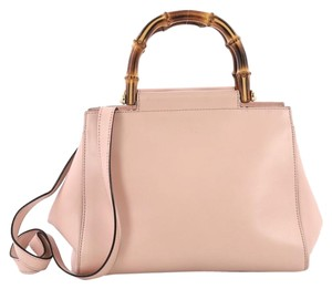 Gucci Satchel Leather Tote in pink