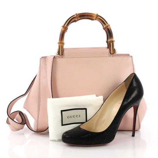 Gucci Satchel Leather Tote in pink Image 1