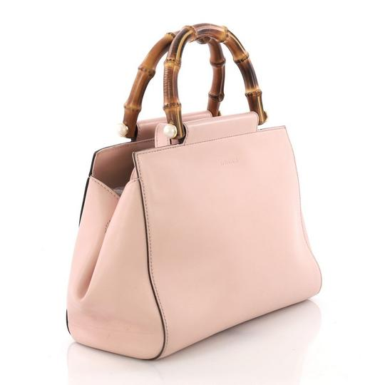 Gucci Satchel Leather Tote in pink Image 3