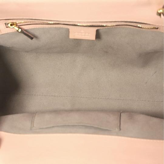 Gucci Satchel Leather Tote in pink Image 8