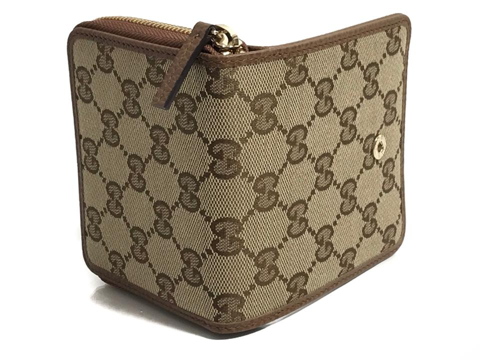 5225b7f103c Gucci GUCCI 346056 Women's Leather French Zip Around Wallet, Brown Image  11. 123456789101112