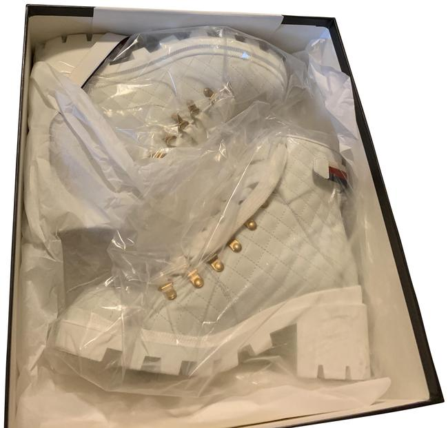 Item - White Quilted Leather Ankle with Belt Boots/Booties Size US 9 Regular (M, B)