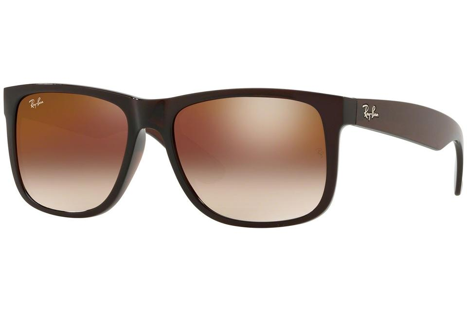 1e0dcf22c0c Ray-Ban Justin Brown Frame   Red Gradient Mirrored Lens Rb4165 714 S0  Square Style Unisex Sunglasses