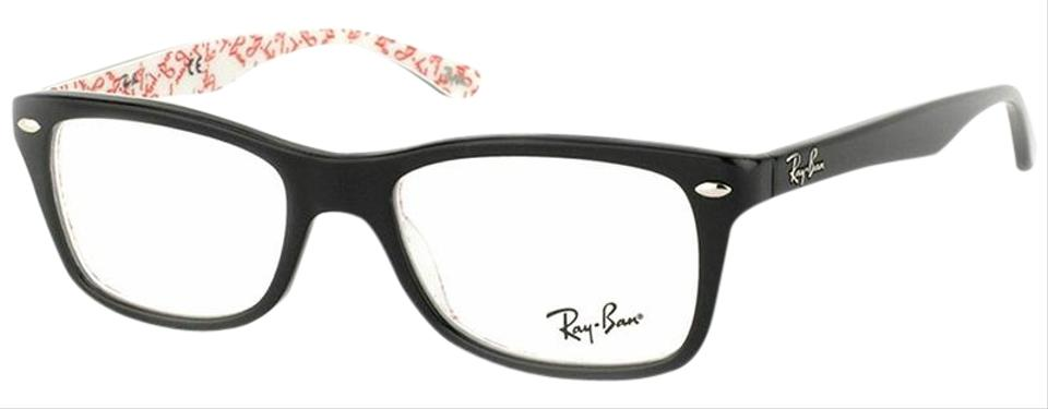 a4664b81a0 Ray-Ban Black   Red Texture Frame with Demo Customisable Lens Rx5228 ...
