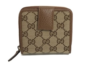 3084a96b45e8 Gucci GUCCI 346056 Women's Leather French Zip Around Wallet, Brown