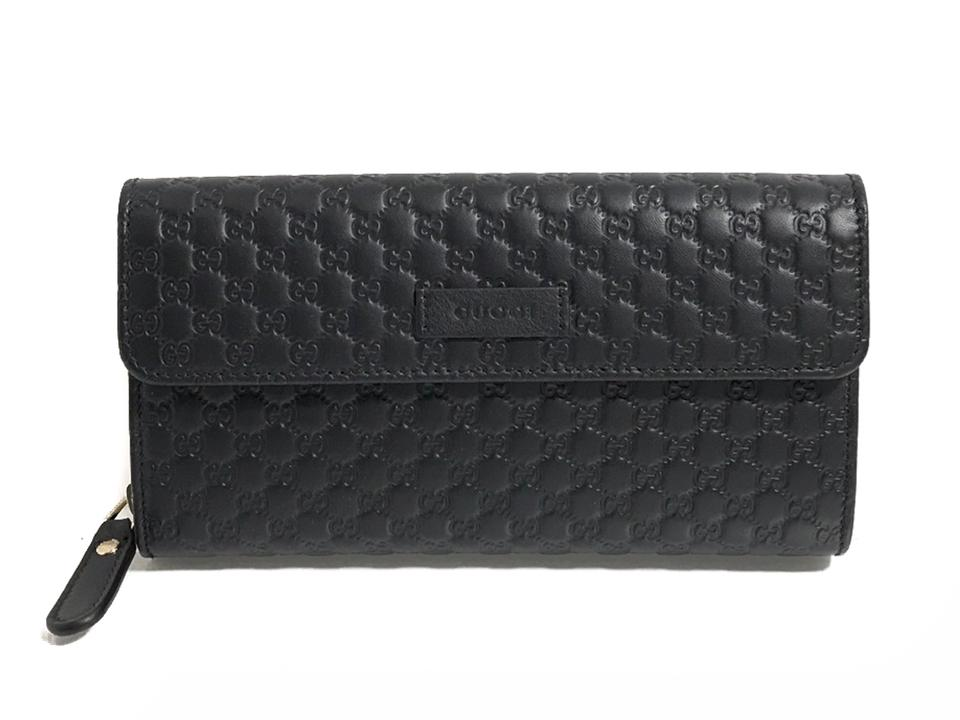 69e55fded45d Gucci GUCCI Women's 449364 Leather Microguccissima Continental Wallet, Black  Image 0 ...