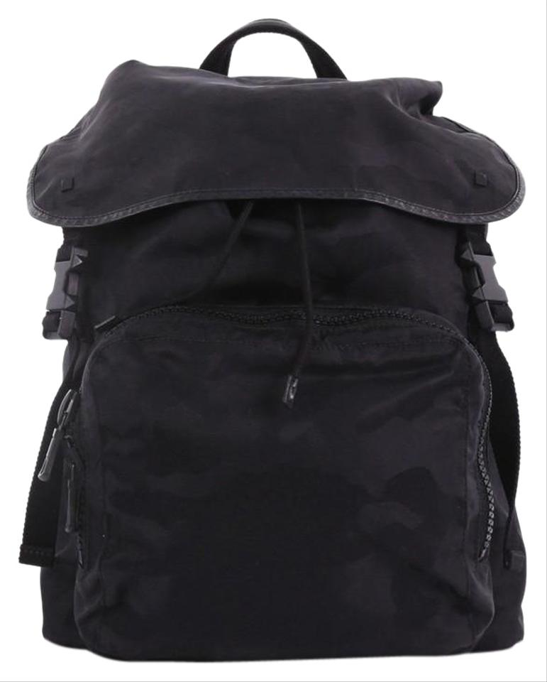 b164b571aef4 Valentino Top Camo Large Black Nylon Backpack - Tradesy