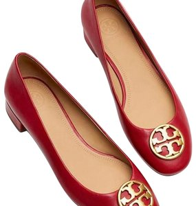 Tory Burch Red Dark Redstone Flats