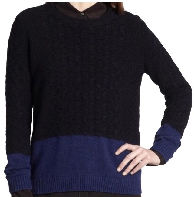 Preload https://img-static.tradesy.com/item/24729852/vince-yak-colorblock-cableknit-jumper-navy-sweater-0-1-650-650.jpg