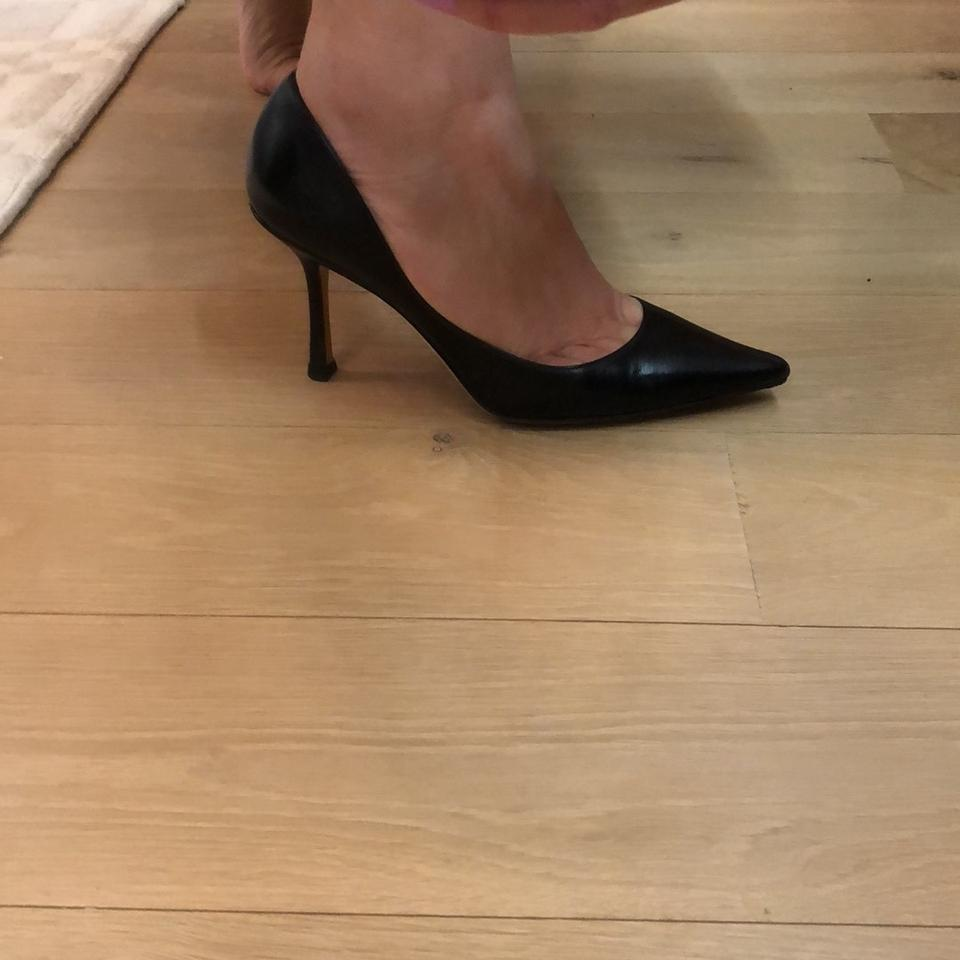 0fe413322c Jimmy Choo Black Leather Pointy Toe Work Casual. Classic Pumps Size ...