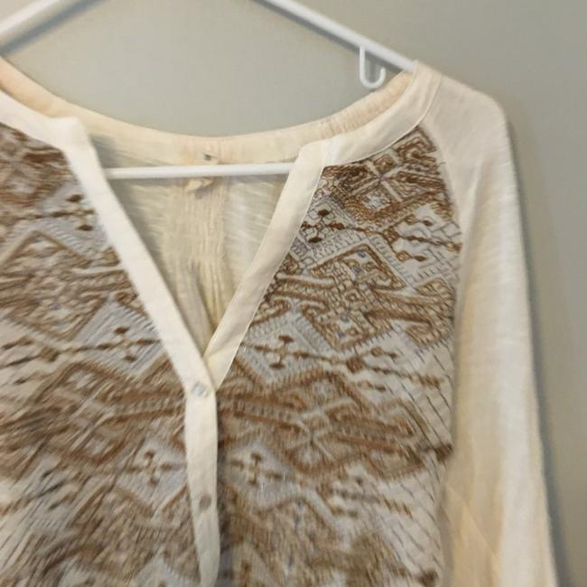 Anthropologie Button Down Shirt Gold Image 2