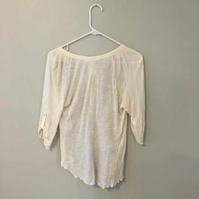 Anthropologie Button Down Shirt Gold Image 3