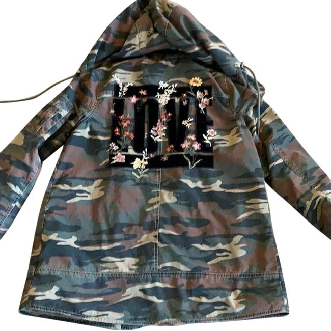Item - Black; Green; Cream; Brown Army Jacket Size 6 (S)