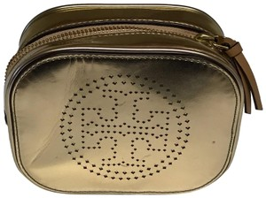 Tory Burch Metallic Perforated Cosmetic Case