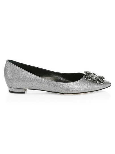 Manolo Blahnik Pumps Wedding Pumps Wedding Silver Flats Image 0