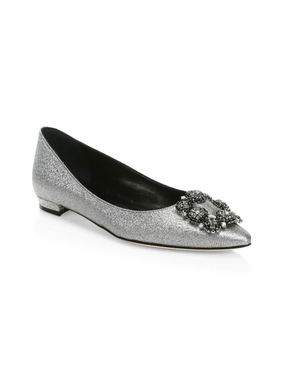 Manolo Blahnik Pumps Wedding Pumps Wedding Silver Flats Image 1