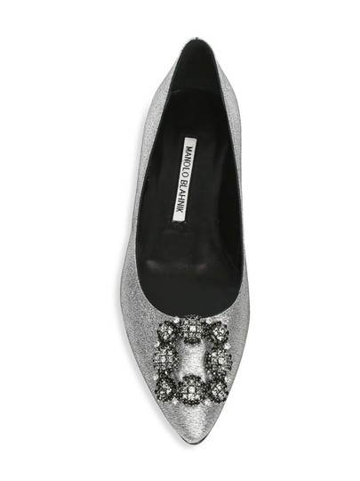 Manolo Blahnik Pumps Wedding Pumps Wedding Silver Flats Image 2