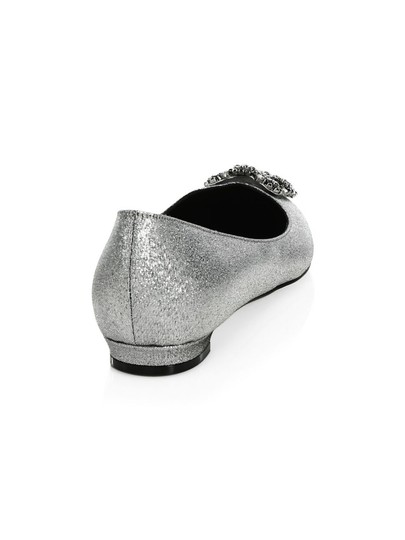 Manolo Blahnik Pumps Wedding Pumps Wedding Silver Flats Image 3
