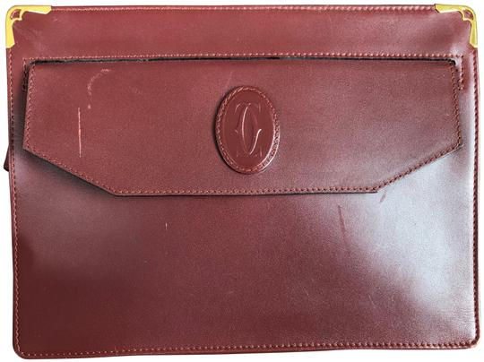 Preload https://img-static.tradesy.com/item/24730150/cartier-bordeaux-leather-clutch-0-1-540-540.jpg