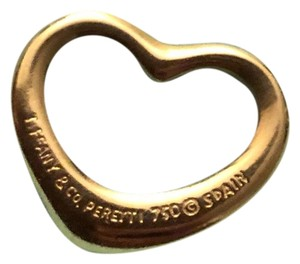 Tiffany & Co. Tiffany & co gold open heart charm pendant