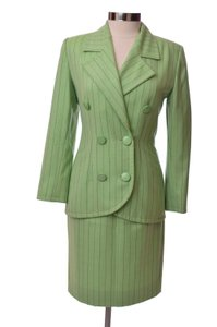 Givenchy Vintage Green Couture Givenchy Skirt Suit Set Size Small