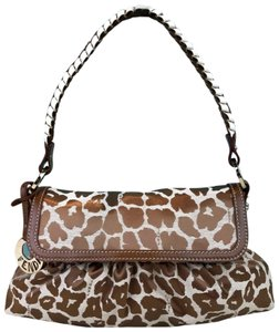 Fendi Canvas Giraffe Shoulder Bag