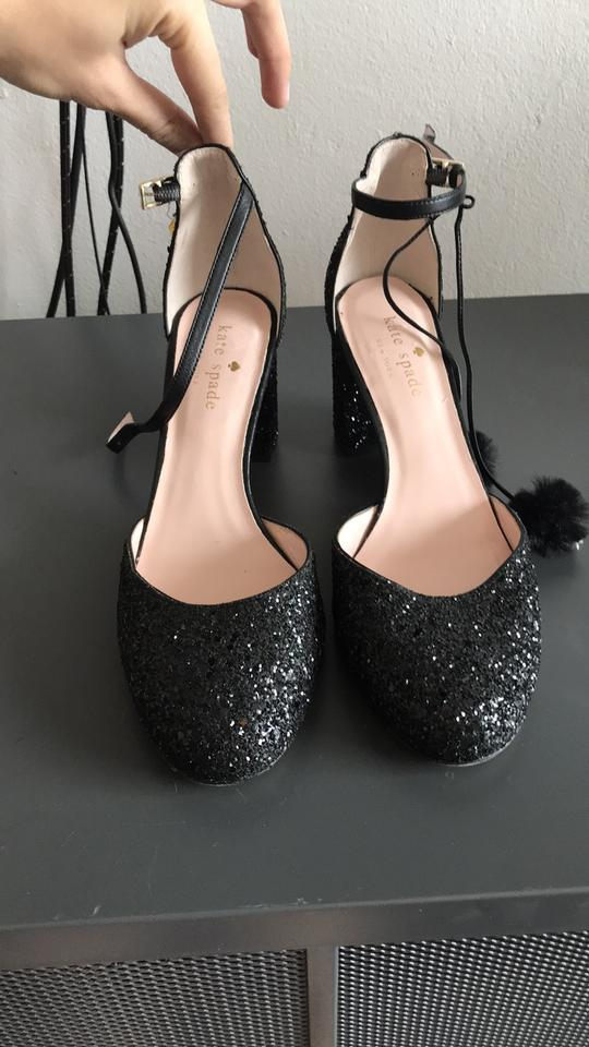 6775f11d7b17 Kate Spade Black Glitter Abigail Pumps Formal Shoes Size US 6 ...
