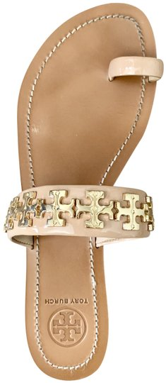 Tory Burch Gold Camelia Pink/Nude Sandals Image 0