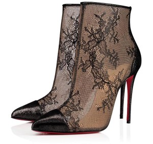 Christian Louboutin 100mm Lace Black Boots
