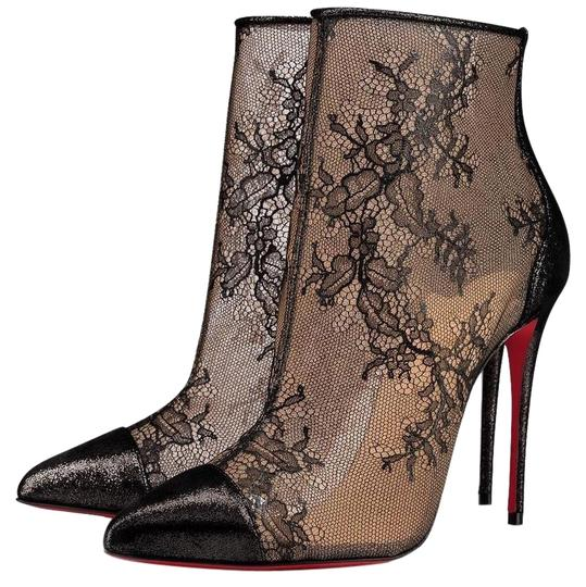 Christian Louboutin 100mm Lace Black Boots Image 0