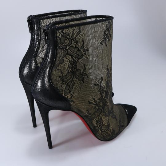 Christian Louboutin 100mm Lace Black Boots Image 10