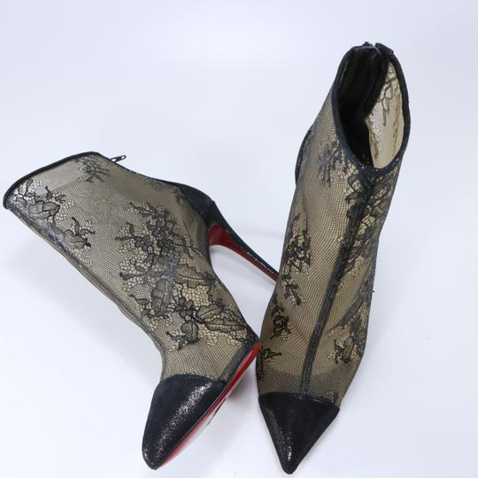 Christian Louboutin 100mm Lace Black Boots Image 11