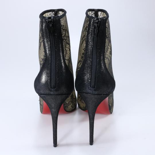 Christian Louboutin 100mm Lace Black Boots Image 3