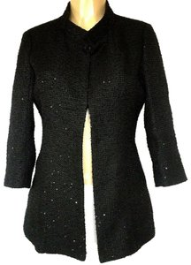 Chanel Tweed Jacket Sequin Coat black Blazer