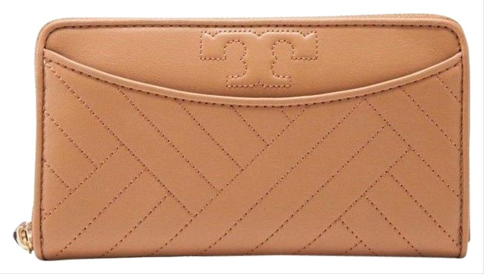 6b6931df6 Tory Burch NEW TORY BURCH (50647) ALEXA ZIP CONTINENTAL AGED VACHETTA QUILT  LEATH Image ...