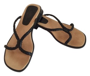 Tommy Bahama Braided Leather Black Sandals