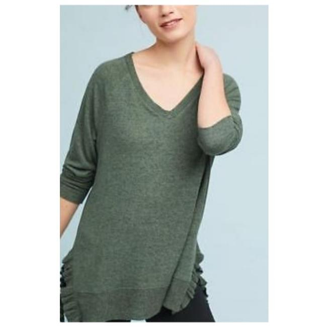 Item - Forest Green Sweater with Ruffles Tunic Size 4 (S)