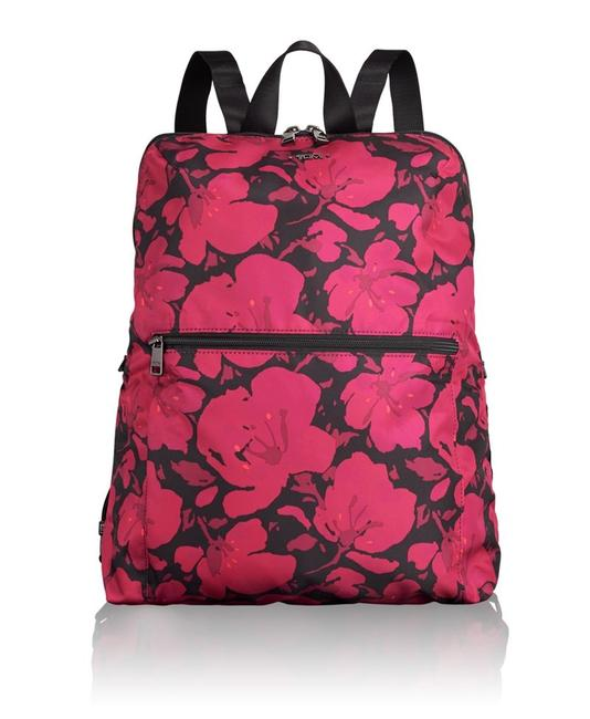 Item - New 2pcs Floral Pattern Foldable Travel Pouch Pink Nylon Backpack