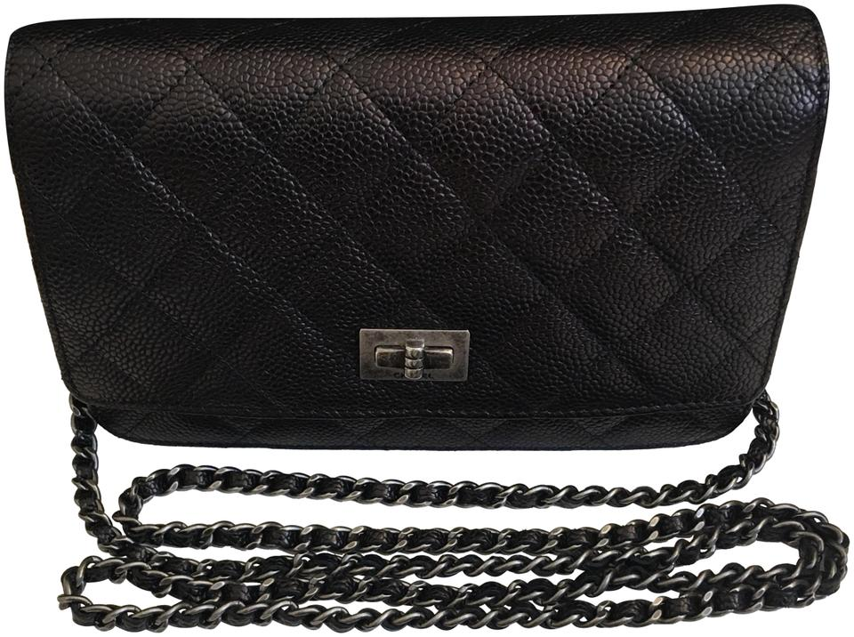 3d7f71034eeb Chanel Wallet on Chain 2.55 Reissue Black Caviar Leather Cross Body ...