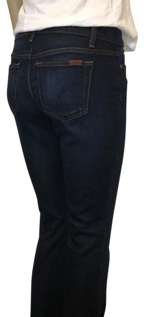 Item - Dark Rinse Denim with Rust Color Thread Trim. Boot Cut Jeans Size 4 (S, 27)