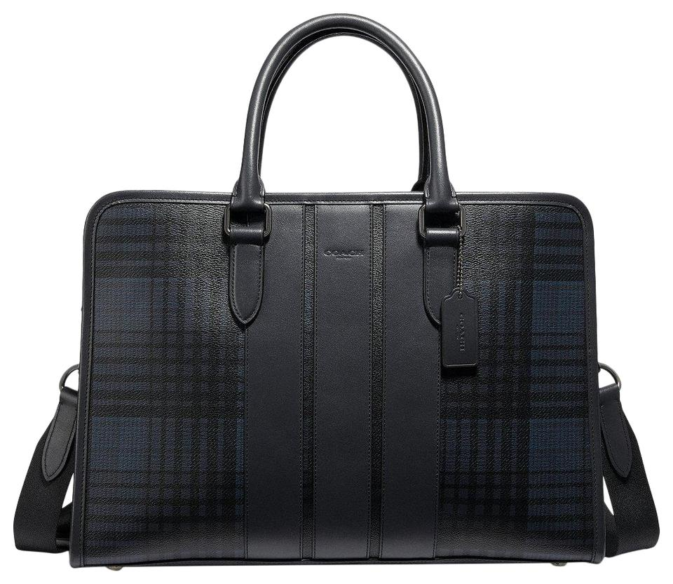 Coach Leather Business Business Brief Scratch Resistant Briefcase Laptop Bag  ... 330d34aa27
