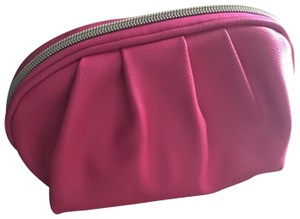bareMinerals pink pleated cosmetic bag
