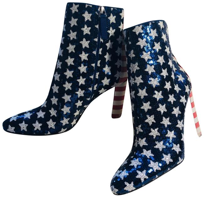 Item - Blue and Red Ankle Boots/Booties Size EU 36.5 (Approx. US 6.5) Regular (M, B)